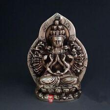 China Buddhism Silver Lotus Thousand Hand Kwan-Yin Bodhisattva Exquisite Statue