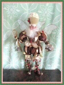 """Mark Roberts """"CHOCOLATE TRUFFLE"""" Fairy Elf  @ 17"""" tall holding wisk & sweets!"""