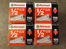 """Lot of 4 Boxes Ramset 1503K 1/2"""" Fastener Pins 13mm (Total of 400) *Ships Free*"""