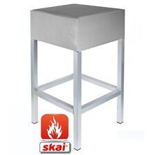 Barhocker Kaikoon platin grau/ silber B1 Maße: 34 cm x 34 cm x 82 cm