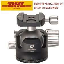 Leofoto LH-55 Ball Head with Quick Release Plate, Lower Center Double Notch