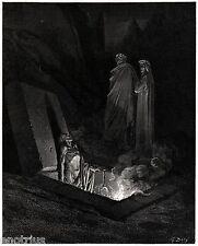 INFERNO: FARINATA DEGLI UBERTI. Gustave Doré.Virgilio.Dante.Divina Commedia.1890