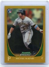 """2011 BOWMAN CHROME #63 MICHAEL MCKENRY """"GOLD REFRACTOR"""" ROOKIE RC #16/50 PIRATES"""