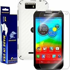 ArmorSuit MilitaryShield Motorola Photon Q 4G LTE Screen + White Carbon Skin!