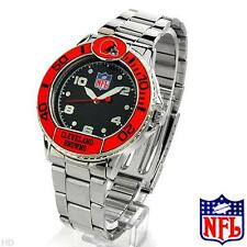 NFL Silver Base Metal Men's Watch Team Bezels Baltimore Ravens, Bears, Packers..