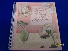 Greeting Card Pocket Calendar Pink Rose Bridal Shower Wedding Gift Memory Book