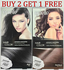 Epielle Black & Brown Hair Coloring Dye for Women 5 Minute color Cream
