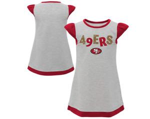 Outerstuff NFL Toddler Girls San Francisco 49ers First & Ten Cap Sleeve Dress