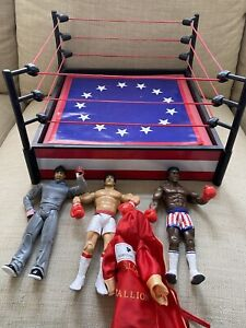 Rocky Figures with Boxing Ring