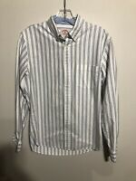 Brooks Brothers Red Fleece White With Blue Stripes Button Down Shirt XS