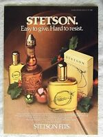 1985 Magazine Advertisement Page For Stetson Cologne After Shave Holiday Ad