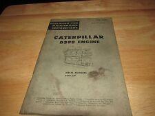 Caterpillar CAT D398 Engine Operation and Maintenance instructions Manual