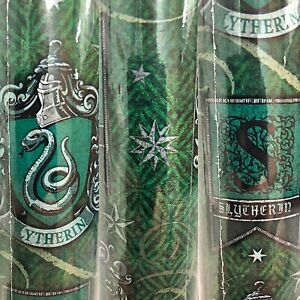 1 Roll Green Harry Potter Slytherin Birthday Gift Wrapping Paper 22.5 sq ft
