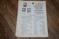 vintage 1953 rca victor television receivers manual 17t301 17t310u etc. etc.
