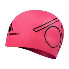 Aqua Sphere Silicone Adult Swimming Hat - Tri Cap - Bright Pink
