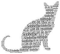 Cat Word Art gift