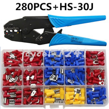 280x Cable Wire Electrical Terminals Kit Set Ratchet Crimper Plier Crimping Tool