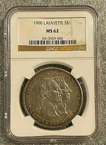 1900 U.S. Silver Dollar Lafayette Dollar NGC MS62 ~~ KEY COIN ~~
