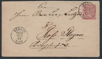 40147) BERLIN P.E. 10 Stempel 1869 auf Ganzsache KBHW # 348b neues FRÜHDATUM!