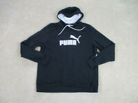 Puma Sweater Adult Extra Large Black White Hoodie Hooded Pullover Spell Out Mens