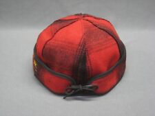 Stormy Kromer Brimless Red Plaid Cap Hat Fitted 7 5/8