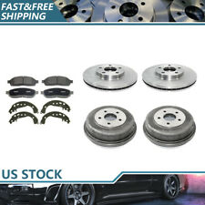 Brake Rotors & Ceramic Pads + Brake Drums & Shoes For 10-13 Ford Transit Connect