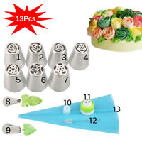 13pcs/Lot Russian Tulip Flower Icing Piping Nozzles Cake Decor Tips Baking Tools