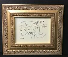 Picasso Lithograph Of A Face And Peace Dove