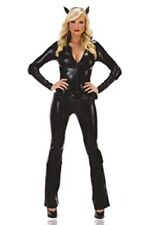 NEW! CAT BURGLAR L Sexy Women's Starline Black Catwoman Bodysuit Costume T1054