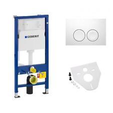 Geberit Duofix Basic WC Vorwandelement mit Betätigung Delta 21 weiß Komplett-Set