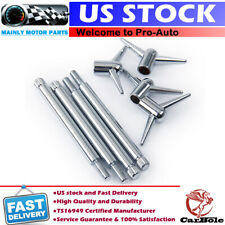 "4"" Long Chrome Valve Cover Deluxe T-Bar Wing Nuts Bolts Studs 1/4""-20 For Chevy"