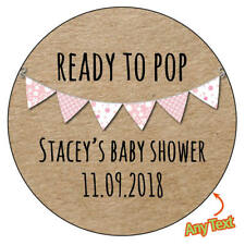READY TO POP personalised kraft chic Baby Shower Bunting Vintage 223