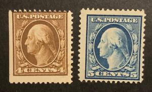 TDStamps: US Stamps Scott#377 378 Unused NG #378 Crease
