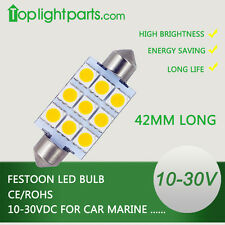Wholesale (20pcs) 42mm Festoon WW 10-30V Car Auto Marine Top LED Light Lamp Bulb