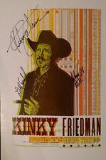 Autographed Kinky Friedman European Music Tour Poster - 2008