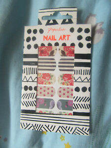 Paperchase nail art floral spring summer flowers stripes vintage stickers new
