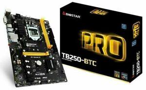 NEW BIOSTAR TB250BTC LGA 1151 Motherboard 6 GPU