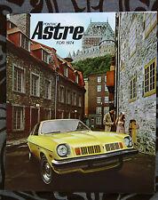 PONTIAC ASTRE 1974 brochure catalog - English - Canadian Market
