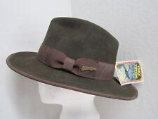 New S/M Indiana Jones Crushable Wool Felt Fedora - Rare Dusted Version