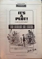 It's A Plot Movie Autograph 12x18 Press Book signed Jonathan Winters(LHAU-B-51)
