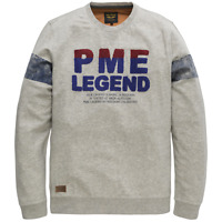 PME Legend Herren Pullover Long sleeve r-neck PTS191501 light grau M L oder XL