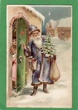More details for st nicholas santa claus christmas htl hold to light pc used 1905 ref m176
