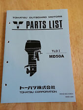 NEW TOHATSU OUTBOARD MOTOR PARTS LIST TLDI MD50A PARTS DETAIL