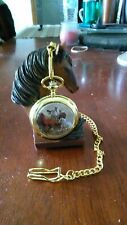 With Horses Pocket Watch