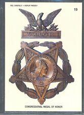 Congressional Medal Of Honor. 1991 Topps Desert Storm Sticker/Card #19