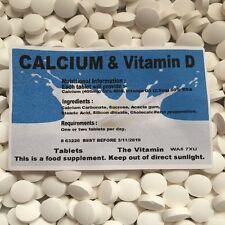 CALCIUM & VITAMIN D (60 tablets) 1 or 2 per day (L)