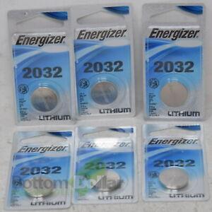 Energizer ECR2032BP Coin Cell Lithium 2032 Battery 3V Exp: 03/2026 (6 Packs)