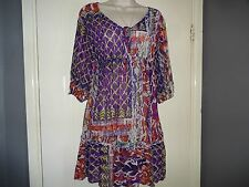 *LADIES STUNNING  TUNIC/ DRESS/ LONG   TOP SIZE L (14/16/18) FROM WALLIS