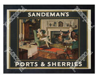 Historic Sandman's Ports & Sherries Advertising Postcard