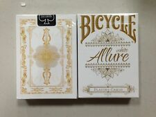 ALLURE WHITE Bicycle Playing Cards deck brand new sealed